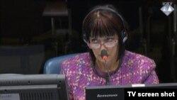 Zorica Subotić u sudnici 30. rujna 2015