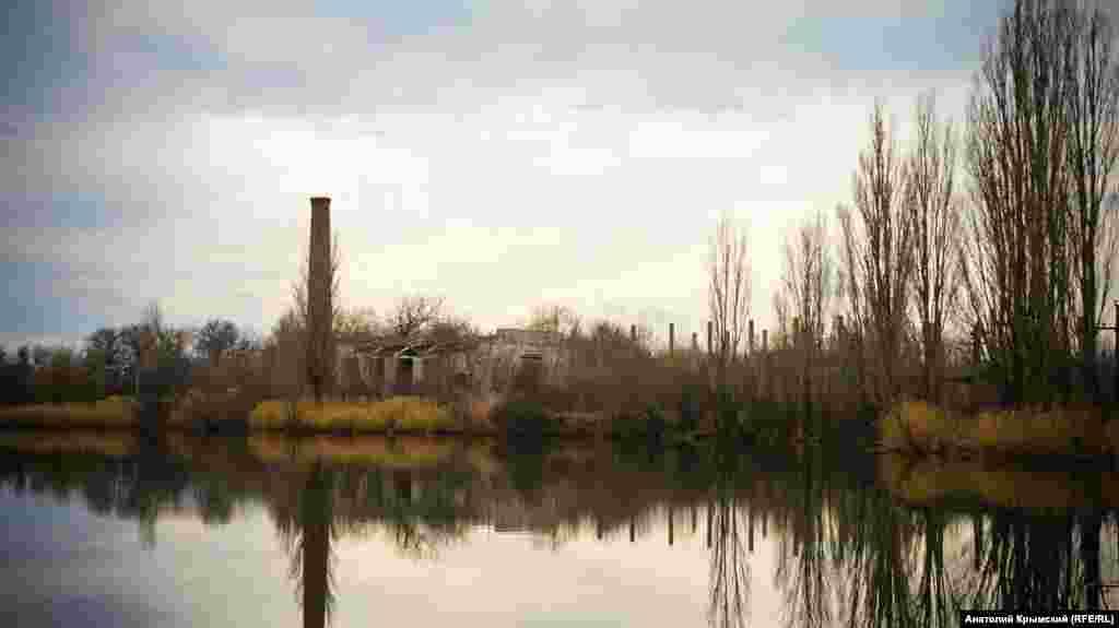 Один з трьох заводських ставків. Вода з них використовувалася для холодильних установок заводу