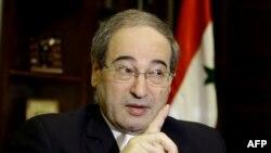 Файсал аль-Микдад, замминистра иностранных дел Сирии