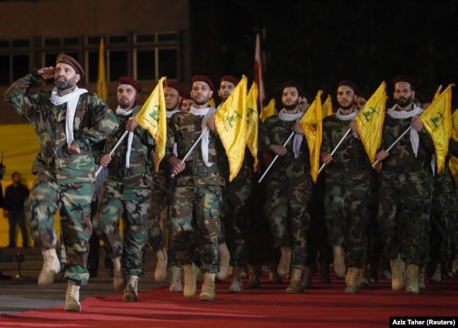 "Марш боевиков ""Хезболлы"" в Бейруте. 21 мая 2019 года"