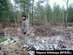 Александр Карпов в лесу