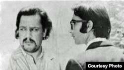 منوچهر فرید و پرویز فنیزاده در نمایی از فیلم «رگبار» ساخته بهرام بیضایی