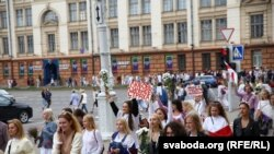 Протестите против белорускиот претседател Александар Лукашенко во Минск.