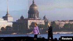 Анґела Меркель і Володимир Путін
