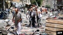 Pamje nga tregu në qytetin Douma