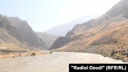 The border bridge between Tajikistan and Afghanistan in the Shamsidin Shohin district