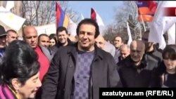 Armenia - Gagik Tsarukian campaigns in Bert, 7March, 2017.