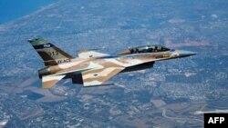هواپیمای اف- ۱۶ متعلق به نیروی هوایی اسرائیل