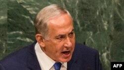 Биньямин Нетаньяху на трибуне ООН