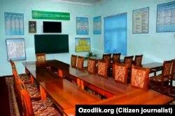 Учебный класс в медресе «Саййид Мухйиддин Махдум» в Андижане.