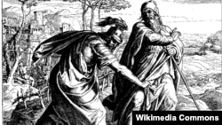 Юліюс Шнор фон Каральсфэльд, «Саўл дзярэ крысьсё вопраткі Самуіла».