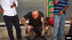Պայթյունից տուժած քաղաքացի, Սուրուչ, 20-ը հուլիսի, 2015թ.