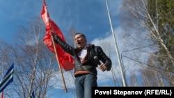 Участник митинга 7 апреля в Архангельске
