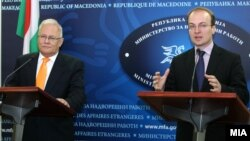 Министрите за надворешни работи на Унгарија и Македонија Петер Балаш и Антонио Милошоски