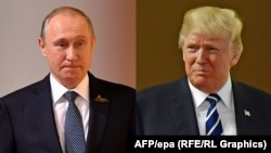 On the eve of the meeting, during a visit to Poland, U.S. President Donald Trump (right) made several moves that were likely to annoy Russian President Vladimir Putin. (combo photo)