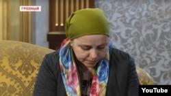 Айшат Инаева в эфире государственного телеканала Чечни.