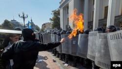 Сутички під Верховною Радою у Києві. 31 серпня 2015 року