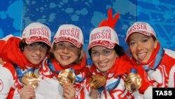 "Российские биатлонистки завоевали ""золото"" в эстафете на Олимпиаде-2010"