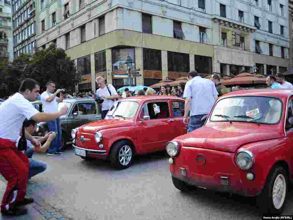 "Serbia - Fun of old cars ""Fica""(Fića) gathered in central Belgrade on ""Ficijada"" (Fićijada),22Aug2010"