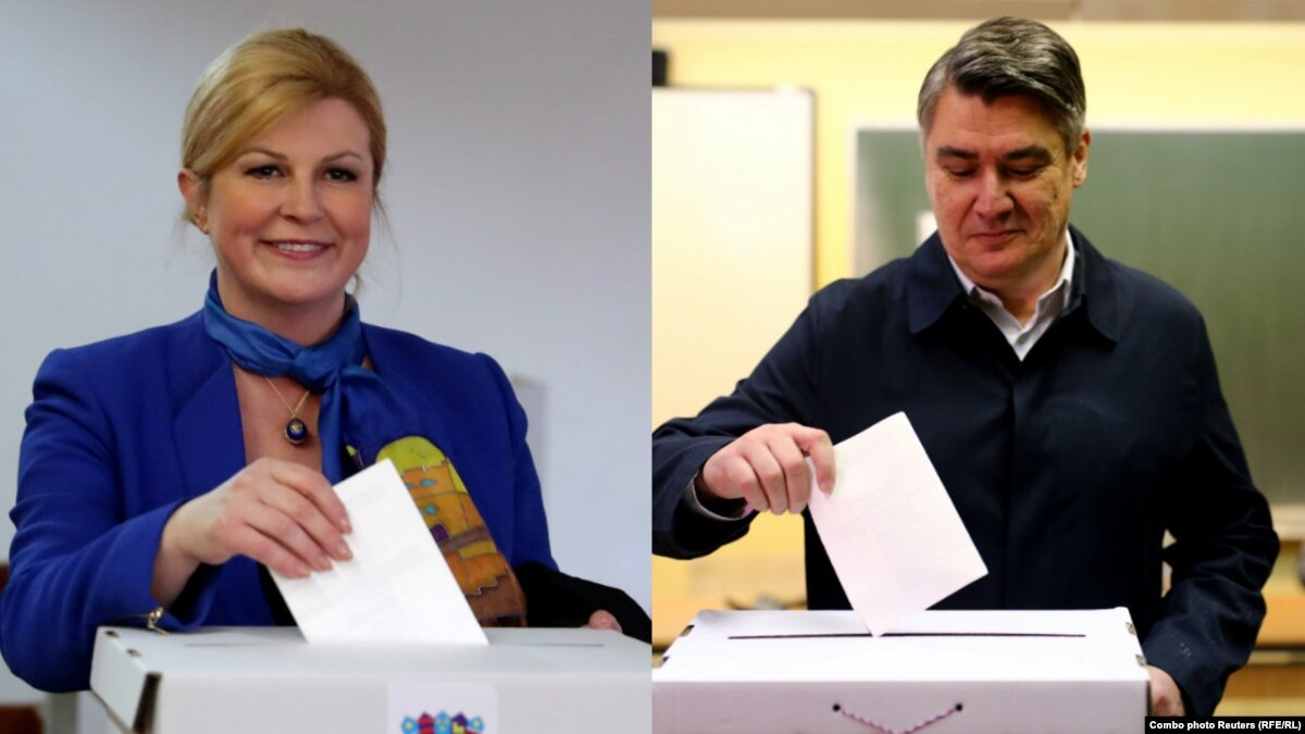 Экзит-поллы: Ґрабар-Кітарович и Міланович вышли во второй тур выборов президента Хорватии