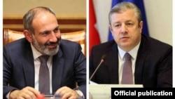 Премьер-министр Армении Никол Пашинян и премьер-министр Грузии Гиорги Квирикашвили