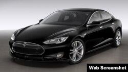 Электромобиль Tesla. Иллюстративное фото.