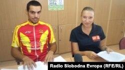 Велосипедистот Јован Јованоски и стрелачката Нина Балабан.