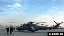 یکی از هلیکوپترهای که هند امسال به افغانستان دادهاست.