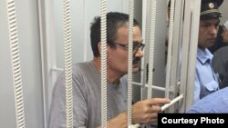 Российский правозащитник Рафис Кашапов в суде по его делу.