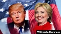 Республиканец Дональд Трамп и демократ Хиллари Клинтон.