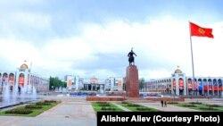 Бишкек шаары, борбордук аянт.