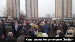 Один из митингов против точечной застройки в Москве