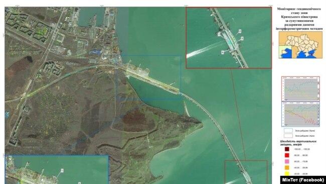 Снимок Керченского моста из космоса