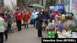 Рынок в городе Резина