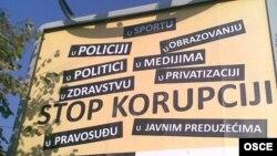 Bilbord iz jedne od kampanja OEBS-a protiv korupcije