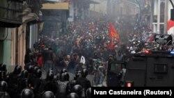 Акция протеста в Кито.