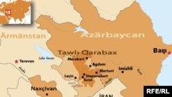 Карта карабахского конфликта