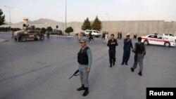 Сили безпеки патрулюють місце, де стався вибух, Кабул, Афганістан, 15 липня 2018 року