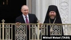 Тихон Шевкунов с Владимиром Путиным