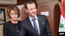 Syria-President Bashar al-Assad and his wife Asma