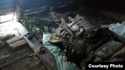 Брайан Боенджер на снайперской позиции