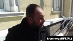 """""""Veciye Kaşka davası""""nıñ iştirakçisi Ruslan Trubaç Aqmescit Kiyev rayon mahkemesi yanında"""