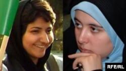 مریم حسین خواه (سمت راست) و جلوه جواهری (سمت چپ)، دو تن از چهار وب نگار و فعال حقوق زنان هستند که هر یک به شش ماه زندان محکوم شده اند.(عکس: RFERL)