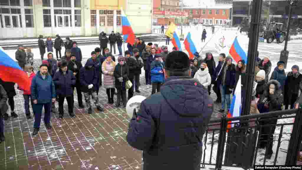 Митинг в память об убитом политике в Новосибирске.