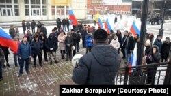 Митинг в центре Иркутска