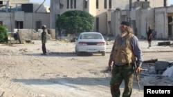 Pamje nga një vendbanim në Siri që është nën kontrollin e kryengritësve
