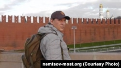 Russian activist Ivan Skripnichenko was guarding the Boris Nemtsov memorial in Moscow when he was attacked on August 15.