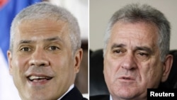 Boris Tadic (left) and Tomislav Nikolic (combo photo)