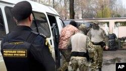 Падчас затрыманьня ўкраінскіх маракоў, 27 лістапада 2018 году