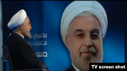 Iranian presidential candidate Hassan Rohani used an interview on state television to criticize the broadcaster.